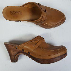 Michael Michael Kors Clogs Brown Studded Mules